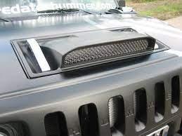 Hummer H2 Hood Scoop Textured Black Hummer Hummer H2 Hummer Parts