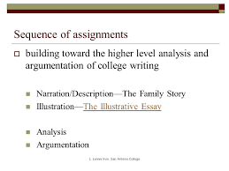 moving from narrative to argument essay basics while workshopping 7 sequence