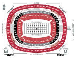 Atlanta Falcons Seating Chart With Rows 23 Comprehensive Ga Dome Seating Chart Rows