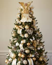 Silver and Gold Christmas Tree  Gold Angel Tree Topper ...