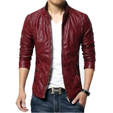 leather jackets for men autumn soft leather jackets men fashion solid slim fit motorcycle jacket top