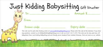 babysitting gift certificate template free 11 babysitting voucher templates psd ai indesign word free