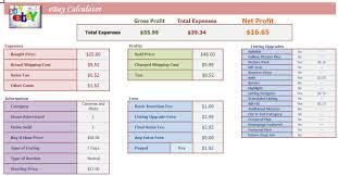 Profit Spreadsheets Ebay Quick Calculator Excel Spreadsheet Profit Analysis