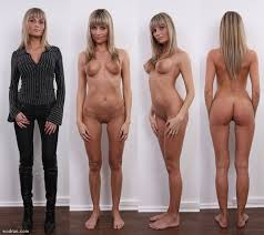 Nude woman before and after