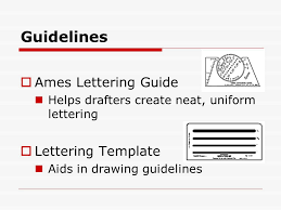 Guidelines Ames Lettering Guide Lettering Template