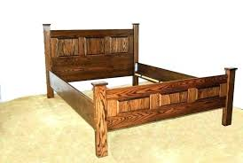 Astonishing Mission Bed Frame Queen Oak Style Size Clearance Bedroom ...