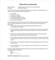 Letter Of Origin Example Of Conformity Certificate Manufacture Template Yakult Co