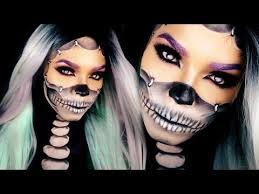 half skull makeup tutorial with reattached face half skull half human makeup tutorial is here just for you easy reattached face skull makeup