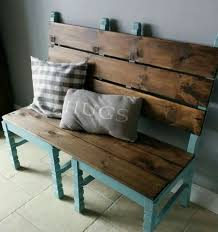 Two second-hand chairs made into a bench.