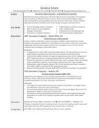 Claims Adjuster Resume Resume Templates