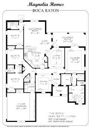 magnolia homes floor plans. Interesting Plans The Boca Raton In Magnolia Homes Floor Plans U