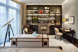 Idee Per Ufficio In Casa : Pareti grigio chiaro per ufficio in casa home office