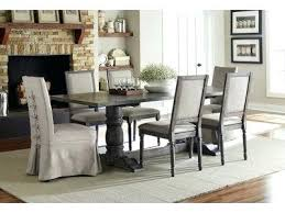 dining room tables for 12 gray dining 7 piece set with upholstered parsons end chairs 12 person round dining room table