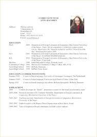 Curriculum Vitae Template Free Magnificent Curriculum Vitae Examples For Graduate Students Student Resume