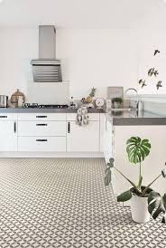 kitchen with victorian ceramic tile effect cushion vinyl flooring