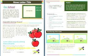 Monthly Newsletter Template For Teachers Monthly Newsletter Template For Teachers Free Fresh Word Templates