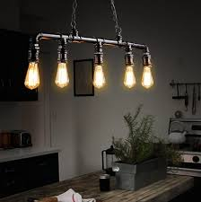 pendant light fixtures. Loft Style 5 Head Water Pipe Lamp Edison Pendant Light Fixtures Vintage Industrial Lighting For Dining S
