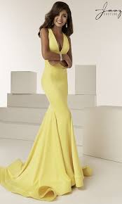 Long Designer Prom Dress With A Trumpet Skirt Trumpet Skirt V Neck Designer Prom Dress By Jasz
