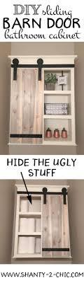 DIY Sliding Barn Door Bathroom Cabinet   Door storage, Open ...