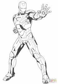 Iron Man Stops The Enemy Super Coloring Art Spiderman Coloring