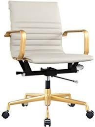 white and gold office chair. Simple Chair Meelano M348 Office Chair In Vegan Leather Grey And Gold With White And