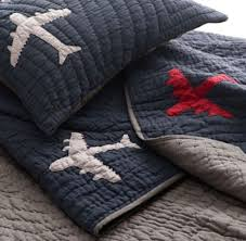 Vintage-Washed Airplanes Quilt &  Adamdwight.com