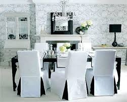 fabric covered dining chairs dining room elegant white fabric dining chair cover with full length skirt
