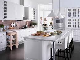 Sublime White Granite Countertop For Island Also White Wooden Ikea Kitchen  Cabinets In Beautiful White Themes Kitchen Decors