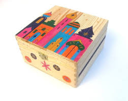 How To Decorate Wooden Boxes Large wooden memory box Keepsake box Handpainted wooden 22