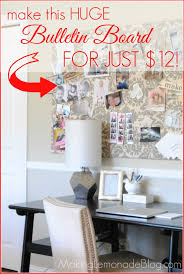 diy cork boards. Make This HUGE Bulletin Board For Just $12; No Cork Required! Makinglemonadeblog.com Diy Boards