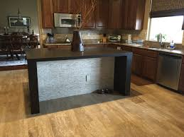Waterfall Kitchen Island With New Flooring And Bathroom Remodel - Kitchen island remodel
