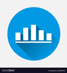 Business Chart Income And Expense Icon On Blue