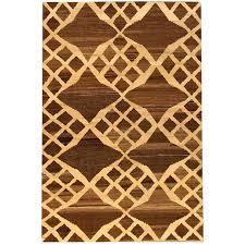 21st century modern brown ivory geometric turkish kilim rug for