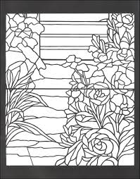 Tiffany Designs Stained Glass Coloring Book 012885 Details Kids