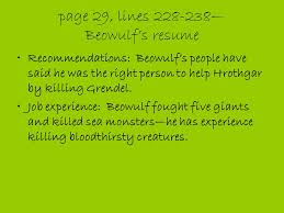 "The Epic And The Epic Hero"" Beowulf Ppt Download Custom Beowulf Resume"