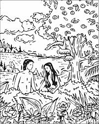 Sunday School Coloring Page Adam Eve Kids Bible Club Adam And Eve