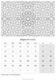 Calendario Giugno 2019 Da Stampare Italia