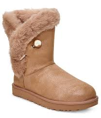 Ugg Classic Fluff Pin Suede Boots