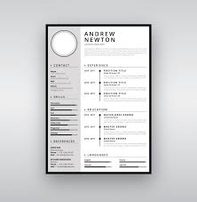Cv Resume Clean Design Template With Timeline Vector Premium Download