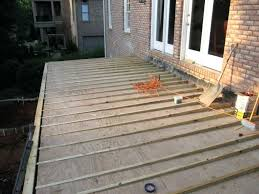floating deck over concrete patio floating deck over concrete patio bar furniture deck on concrete patio