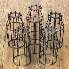 wire cage light cover cage chandelier lighting retro vintage lamp covers pendant chandelier light bulb guard wire cage light