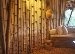 decoration traditional house design with pretty bamboo wall panels ideas also paired with sleeper sofa