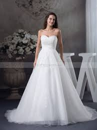 mala tulle and satin sweetheart wedding gown with beaded applique