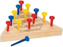 Wooden Peg Solitaire Game Peg Triangle Solitaire The Classic Cracker Barrel Game 10