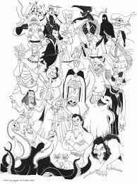 Coloring Pages Free Of Disney Characters With Villains Printable