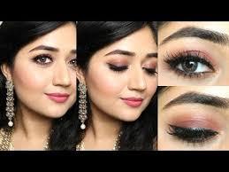 indian makeup tutorial natural rosy brown makeup clista you
