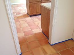 Kitchens With Saltillo Tile Floors Saltillo Tile Dirty Peeling Dull California Tile Refinishing