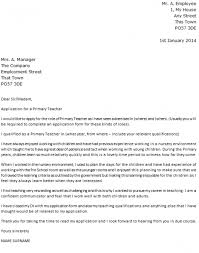 Primary Teacher Cover Letter Example Icover Uk Intended For Cover