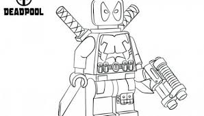 Lego Coloring Pages To Print Free Lego Deadpool Coloring Pages To