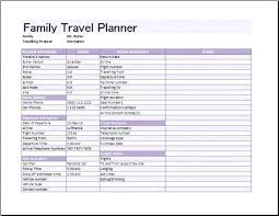 Travel Plan Template Excel Free Printable Travel Itinerary Holiday Planner Template Trip Excel